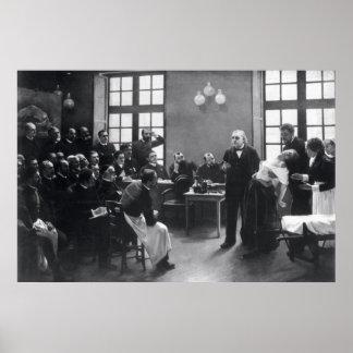Lección con el doctor Charcot en el Salpetriere Póster