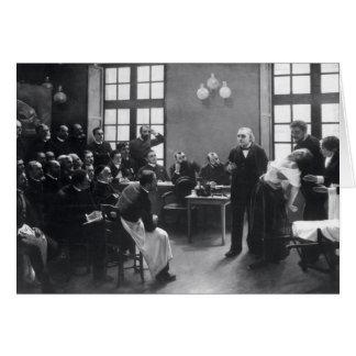 Lección con el doctor Charcot en el Salpetriere Tarjeta De Felicitación