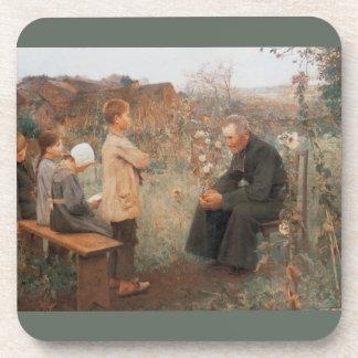 Lección cristiana parisiense del catecismo de la b posavasos de bebidas
