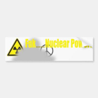 Lección de Fukushima Pegatina De Parachoque