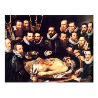 Lección de la anatomía del Dr. Willem van der Meer Postal