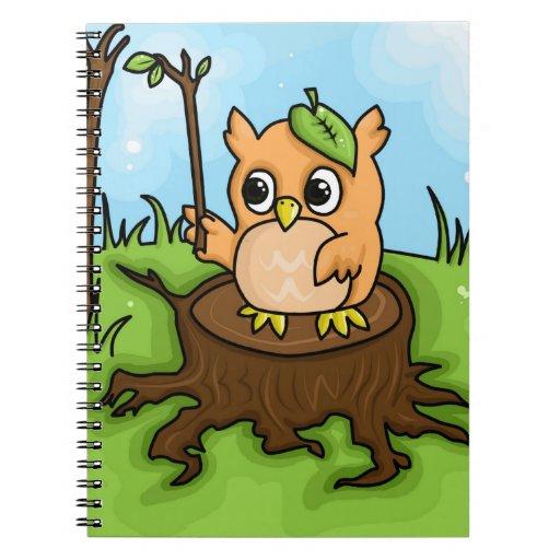 Lección de la matemáticas del pequeño búho libro de apuntes