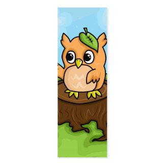 Lección de la matemáticas del pequeño búho tarjetas de visita mini