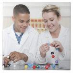Lección de la química. 3 azulejo ceramica