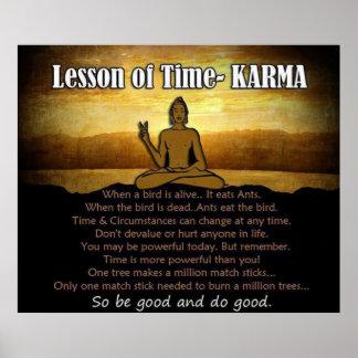 Lección de las KARMAS del ~ del tiempo Póster