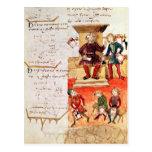 Lección de las matemáticas, de un tratado tarjeta postal
