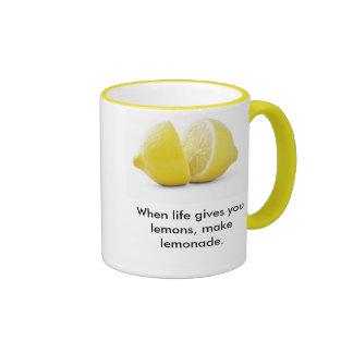 ¡Lección de los limones! Taza De Dos Colores