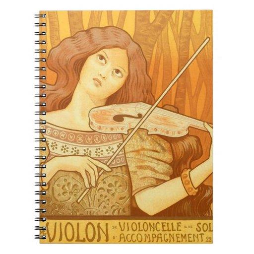 Lección de música francesa parisiense del violinis cuaderno