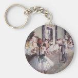 Lección del ballet de Edgar Degas Llavero