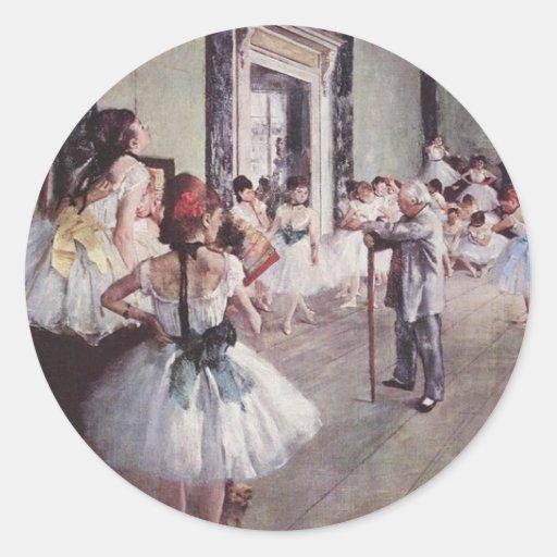Lección del ballet de Edgar Degas Pegatinas Redondas