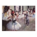 Lección del ballet de Edgar Degas Tarjeta Postal