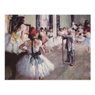Lección del ballet de Edgar Degas Tarjetas Postales