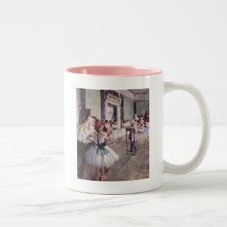 Lección del ballet de Edgar Degas Taza De Café De Dos Colores