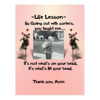 Lecciones #1 de la vida tarjeta postal