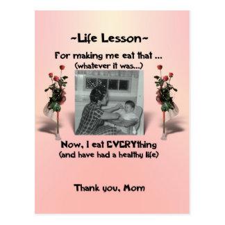 Lecciones #3 de la vida tarjetas postales