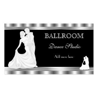 Lecciones de baile del estudio de la danza de tarjetas de visita