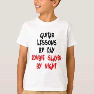 Lecciones de la guitarra del asesino del zombi del playera