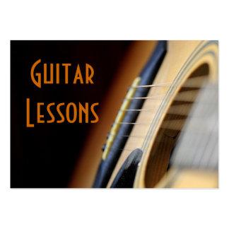 lecciones de la guitarra tarjetas de visita grandes