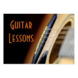 lecciones de la guitarra plantillas de tarjeta de negocio