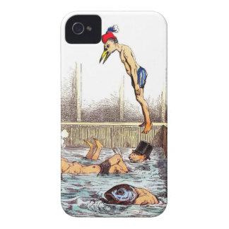 Lecciones de la natación Case-Mate iPhone 4 cárcasas