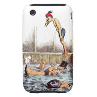 Lecciones de la natación iPhone 3 tough fundas
