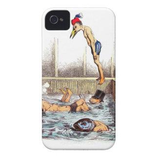 Lecciones de la natación Case-Mate iPhone 4 carcasas