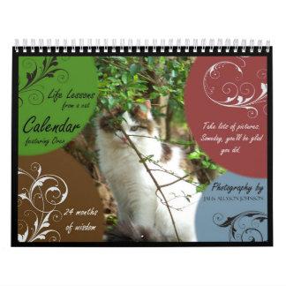 Lecciones de la vida de un calendario del gato
