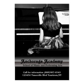 Lecciones de música en el piano tarjetas de visita grandes