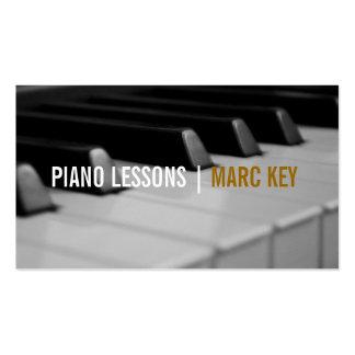 Lecciones de piano, instructor de la música tarjetas de visita