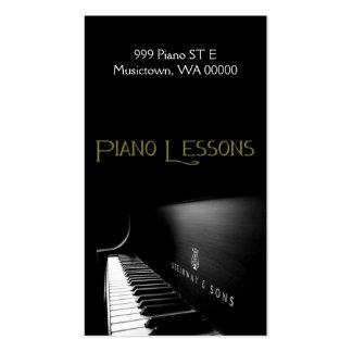 Lecciones de piano, instructor, tarjeta de la tarjetas de visita