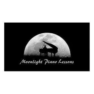 Lecciones de piano, música, tarjeta de visita de
