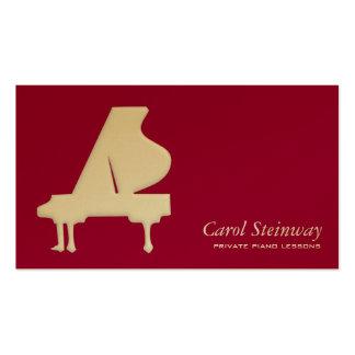 Lecciones de piano tarjeta de negocio