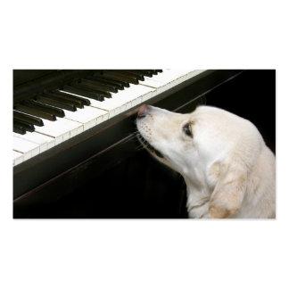 Lecciones de piano tarjetas de visita