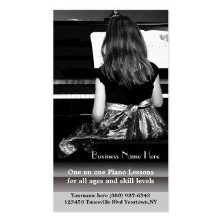 Lecciones de piano y profesores de música tarjetas de visita