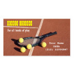 Lecciones de tenis, para todos los niveles de jueg tarjeta de visita