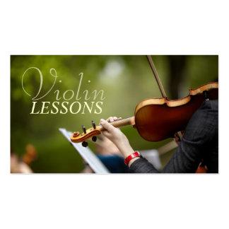Lecciones de violín, instructor, tarjeta de la tarjetas de visita