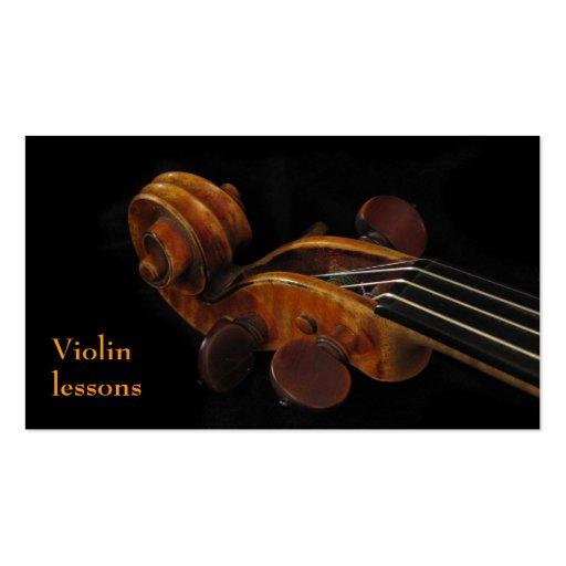 Lecciones de violín tarjetas personales