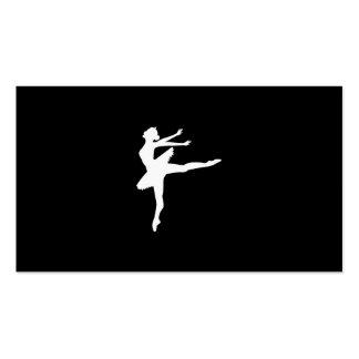 Lecciones del ballet tarjetas de visita