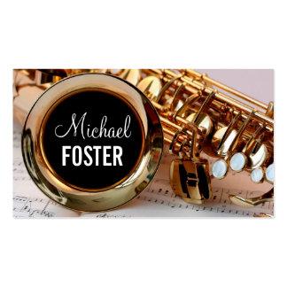 Lecciones del saxofón del profesor del saxofón del tarjetas de visita