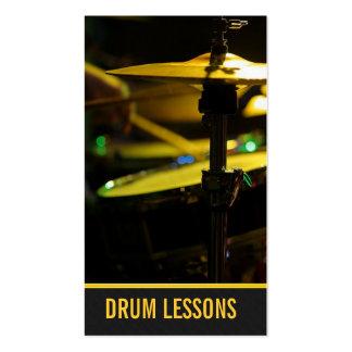 Lecciones del tambor instructor de la música del tarjetas de negocios