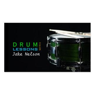 Lecciones del tambor instrumento tarjeta de la tarjetas de negocios