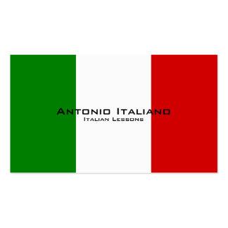 Lecciones italianas/profesor italiano tarjetas de visita