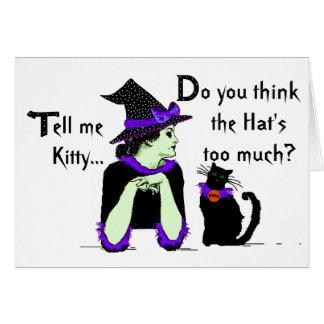 Lecciones para los gatos Bewitched Tarjeta De Felicitación