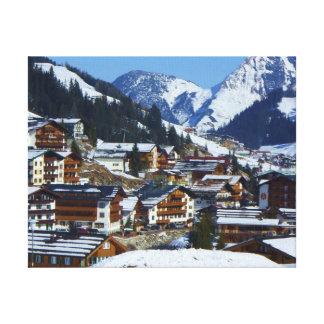 Lech am Arlberg in Austria Canvas Print