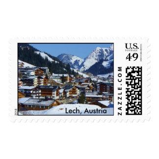 Lech en Austria a la Arlberg días de pos Sello Postal