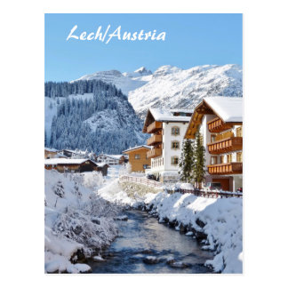 Lech in Austria - Postcard