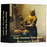 """Leche de colada del Maidservant de Vermeer (circa  Carpeta 2"""""""