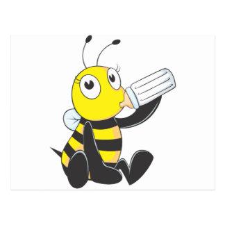 Leche de consumo de la abeja feliz del bebé postales