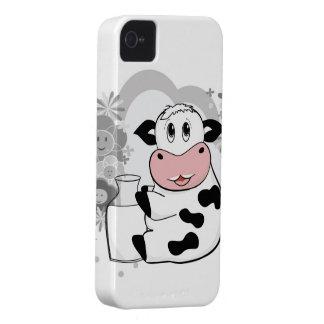 Leche de consumo de la vaca iPhone 4 Case-Mate protector