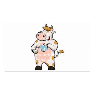 leche de consumo de la vaca tarjetas de visita
